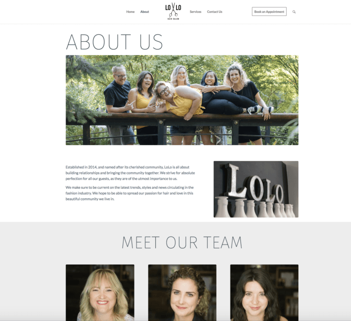 Lolo Salon About Page