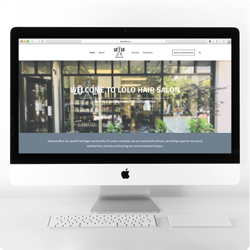 Lolo Salon Website