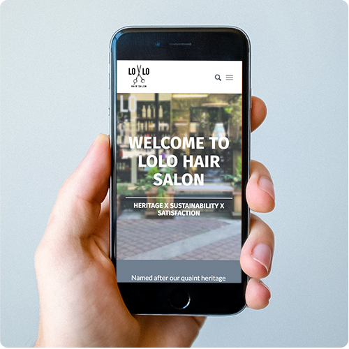 Lolo Salon Mobile Website