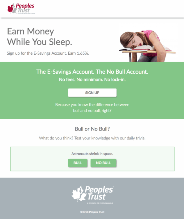 Peoples Trust Campaign Landing Page