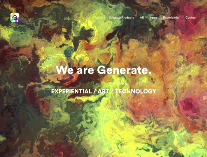 Generate Creative Home Page