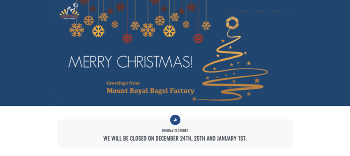 Mount Royal Bagel Factory Christmas Banner