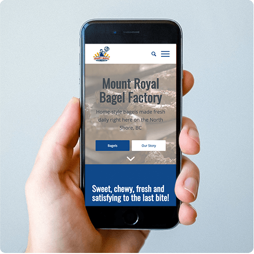 Mount Royal Bagel Factory Mobile Website