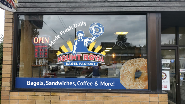 Mount Royal Bagel Factory Window Decal