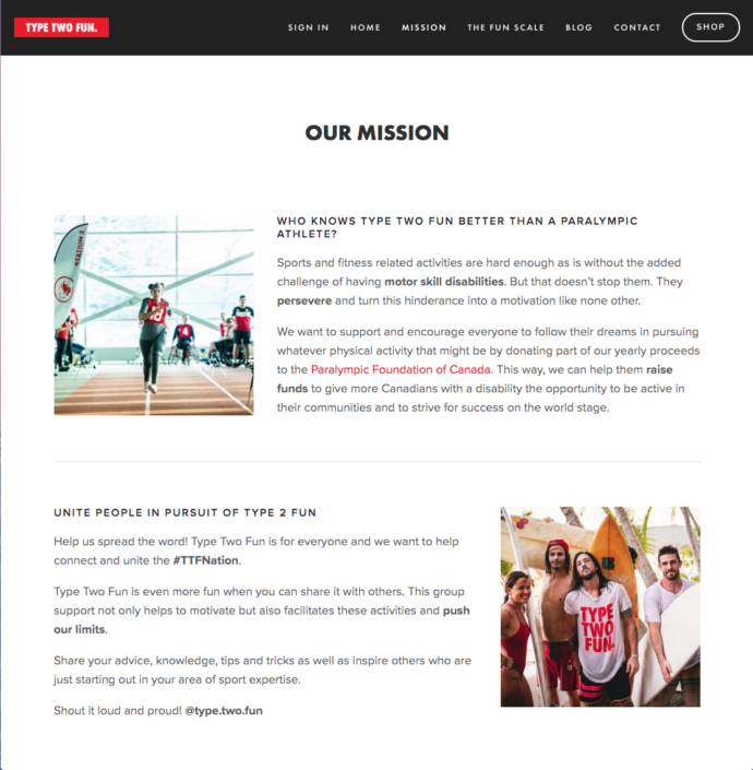 Type Two Fun Mission Page